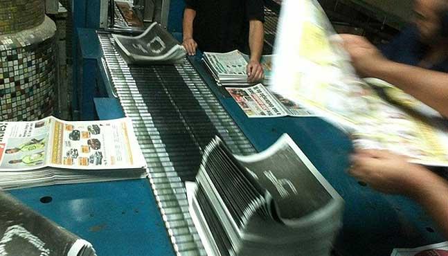 Fotos: impresión de los fanzines en la antigua imprenta de la Folha de São Paulo