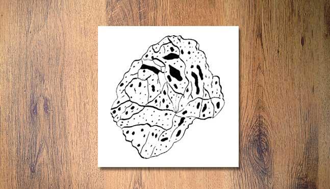 Sello grande (9x9 cm): Piedra  :: Mada Elek
