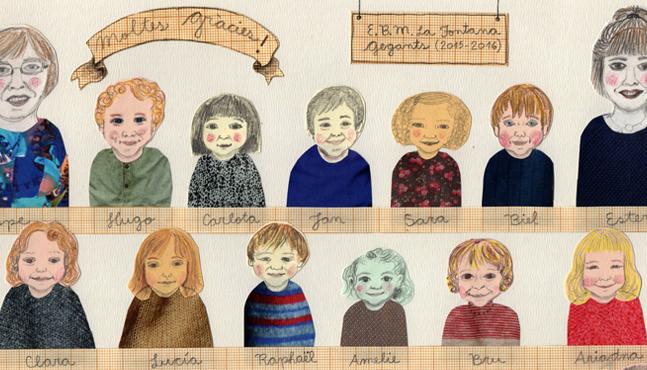 """Detalle de la ilustración """"Classe dels Gegants"""""""