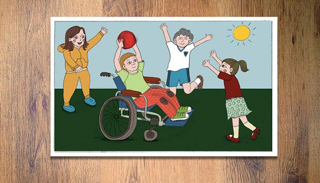 """""""Un amigo en silla de ruedas"""" (3 a 5 años)  :: Mada Elek"""