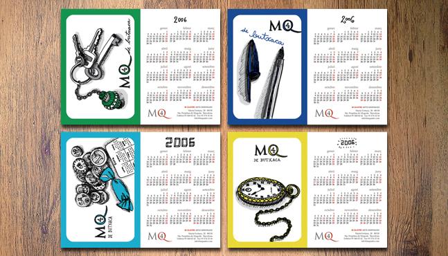 Calendarios de bolsillo para imprenta M4 :: Mada Elek