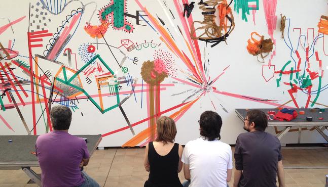 Mural Sesc São Carlos... José Silveira, Silvia Amstalden, Fernando de Almeida y Fabio Zimbres analizan la obra