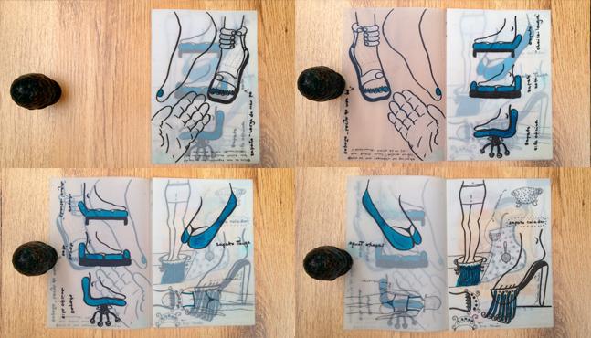 """Ilustraciones """"Zapatos absurdos""""  :: Mada Elek"""