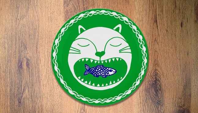 """Plato """"Gato e sardinha"""""""