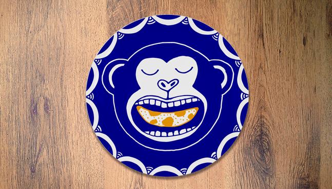 """Plato """"Macaco e banana"""""""