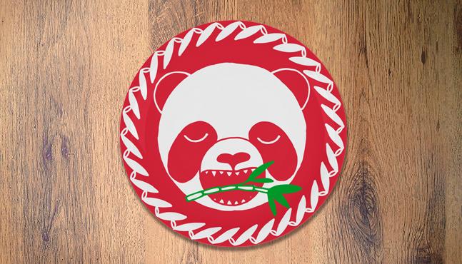"""Plato """"Panda e bambú"""""""