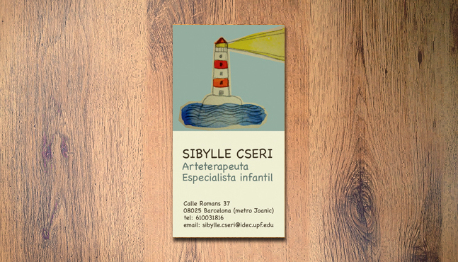 Tarjeta Sibylle Cseri :: Mada Elek